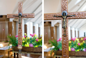 Community-of-Jesus-woodworking-processional-crucifix
